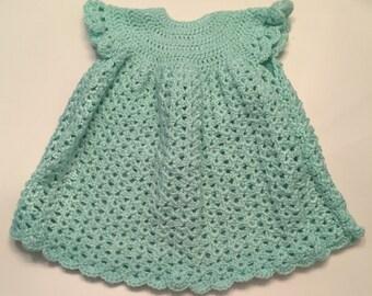 Custom Crocheted Baby Girl Dress 6-18 Months