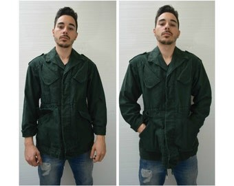 50% OFF everything in shop--- Surplus by UFO USA Green Army Military Jacket