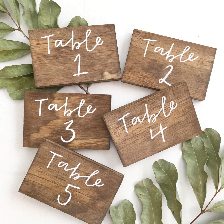 Wedding Table Numbers Wooden: Wedding Table Numbers Wood Table Numbers Rustic Table