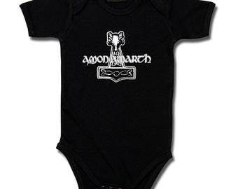 Baby rompers, Amon Amarth hammer