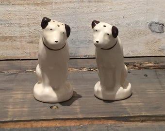 Vintage Dog Salt And Pepper Shaker Statues