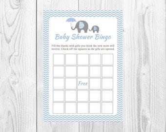 baby shower bingo game bingo game printable download blue boy baby
