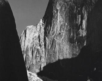 Ansel Adams Vintage Postcard Circa 1979 Moon and Half Dome Yosemite California  AA-109 Unused