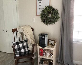 Rustic White Wood Shelves
