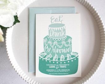 PRINTABLE Bridal Shower Invitation | Eat Drink Be Married
