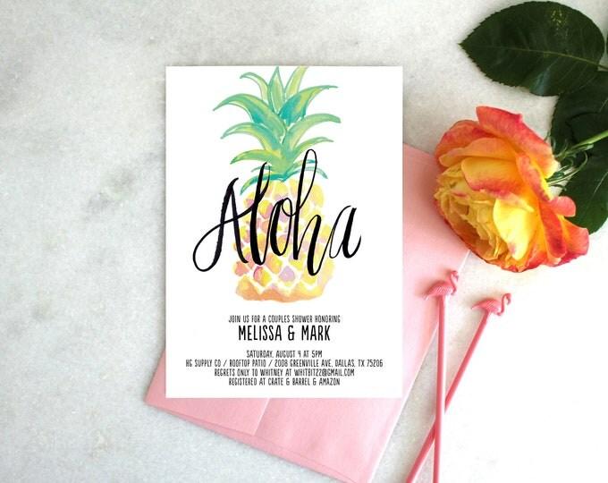 PRINTABLE Bridal Shower Invitation | Aloha