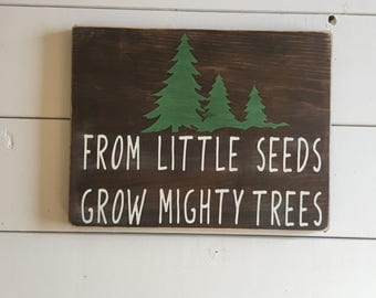 Mighty Seeds, Rustic Nursery, Boys Nursery, Rustic Nursery Sign, Home Decor