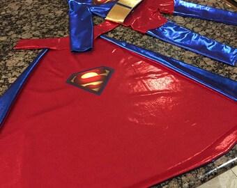 Superman inspired super hero toddler costume