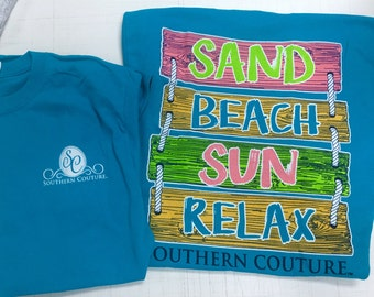 Southern Couture Beach life tee shirt NEW