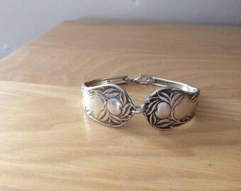 Sunkist  vintage spoon bracelet silver plated