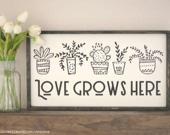 Love Grows Here Etsy