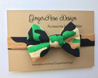 Camo Bow Tie; Military Bow Tie; Forest Bow Tie; Camouflage Bow Tie; Boy Bow Tie; Toddler Bow Tie; Baby Bow Tie; Adjustable Bow Tie