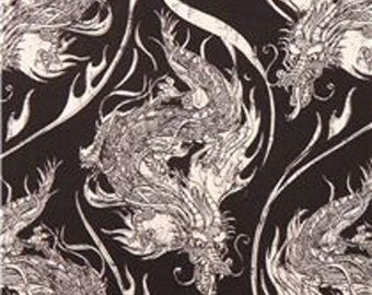 Year of the Ninja Dragon Cotton Fabric Riley Blake  Asian By the Yard