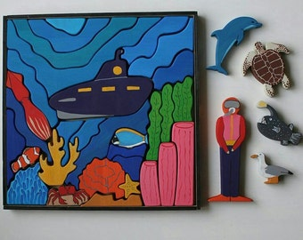 The Sea world Wooden blocks play set