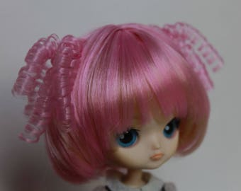 Bicolored pink-blonde WIG for little (mini) Dal doll.