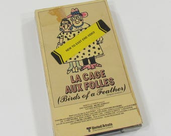 La Cage Aux Folles, Birds Of A Feather, Video Cassette Home Movie, The Original Birdcage, VHS Classic