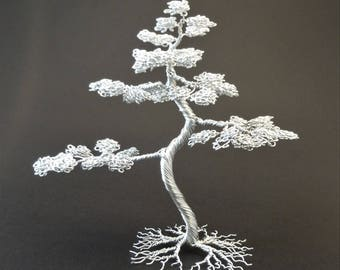 Wire Bonsai tree - Aluminium