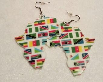 Map Of Africa Earrings