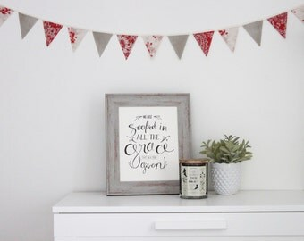 Red Farmhouse Mini Fabric Bunting
