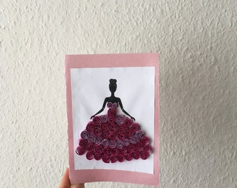 Quilled princess card