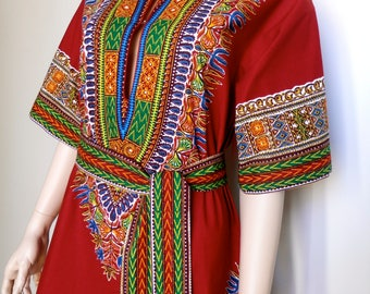 Original 1960's African/Ethnic print mini dress