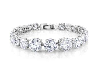 Wedding Bracelet, Crystal Bracelet, Crystal Jewelry, Bridal Bracelet, Bridal Jewelry, CZ Bracelet, Rhinestone Bracelet, Prom Jewelry