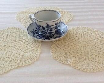 Vintage Crochet Doilies - Set of 3