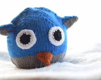 Blue Hoot Owl Hat