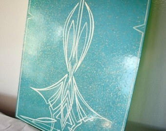 Metal flake Mint Green Pinstripe Art