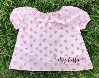 Baby Peasant Shirt, Baby Tops, Peasant Blouse, Peasant Top, Baby Girl Clothes, Toddler Fashion, Toddler Girl Clothes, Baby Boutique