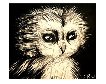 Great Horned Owl Original Sketch