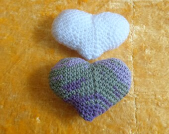 Crochet stuffed acrylic and cotton's hearts for Valentin's day,Ready to shipHearts, for decor, Hearts amigurumi, Gift for her, Mother's day