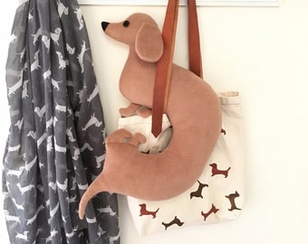 Dachshund travel neck pillow, baby pillow (Free shipping within the UK)