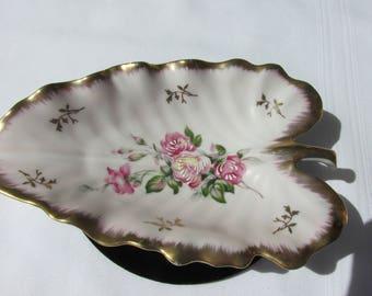 Lovely Vintage Leaf Style Trinket Dish