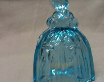 Boyd Glass Louise Bell Marguerite Teal Louise Figurine Bell