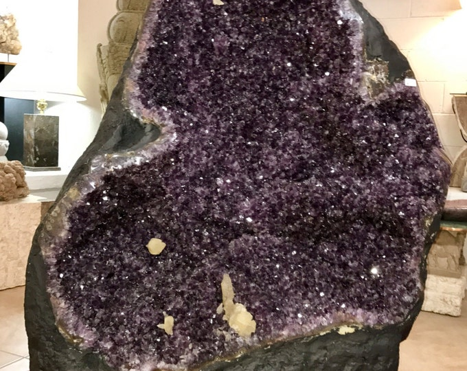 "730LBS Amethyst Crystal Geode 45"" tall High Grade- Brazil- Home Decor \ Metaphysical \ Amethyst \ Geode \ Crystal \ Reiki \ Amethyst Geode"