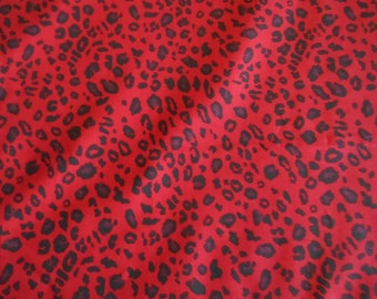 Wild side cheetah red cotton fabric by the yard SALE