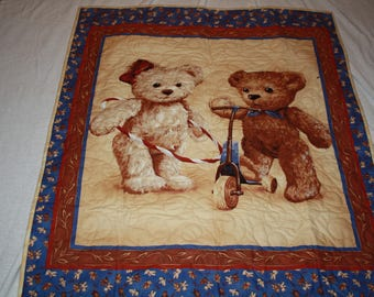 Baby Quilt with Teddy Bears