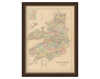 County Kerry - Memorial Atlas of Ireland 1901