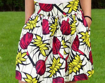 All medium and high skirt in African print fabric