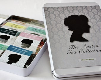 Jane Austen Tea Collection -  Literary Tea Collection - Tea Gift - Literary Tea Gift - Bookish Gift - Author Gift-  Loose Leaf Tea - Tea
