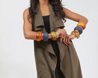 Handmade - Kente bracelet - African print bracelet - Denim bracelet - Cuff bracelet - Ankara bracelet - Colorful bracelet - H Flair
