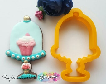 Cake display cookie cutter, cake stand cookie cutter, cake cookie cutter, muffin cookie cutter, bakery cookie cutter, cookie stand cutter