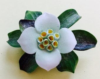 Vintage Bone China Brooch, English Porcelain Pin, Vintage China Pin, China Flower Brooch, Cara China Brooch, Vintage Flower Pin,From England