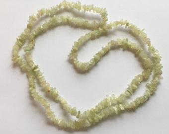 "Jade Gemstone Chip Strand, Jade Nugget Strand, Genuine Green Gemstones, Genuine Jade Gemstones, Gemstone Strand, Green Jade Nuggets, 34"""