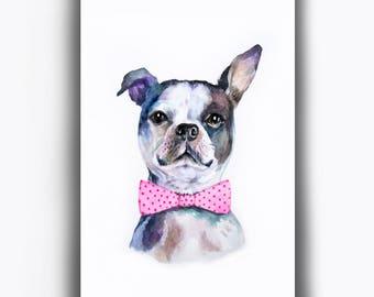 Custom Dog Portrait, Original Watercolor Dog Painting, Pet Portrait, Custom Pet Painting, Watercolor Dog Illustration, Gift For Dog lover