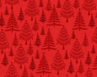 Makower Trees Fabric from the Christmas 2016 Scandi Range 100% Cotton