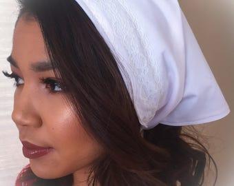 White Panuelo Headwrap /Iyawo Clothing