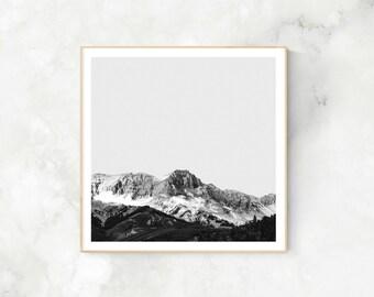Black and White Mountain Photography, Landscape Photography, Minimalist Photography, Printable Art, Modern Printable Art, Scandinavian print
