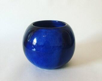 Handmade ceramic bowl / vase / planter / plantpot / blue glaze / home decor / orb